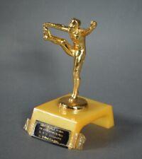 Vintage 1955 Bakelite Catalin High School Football Punter Trophy - Leetsdale, PA