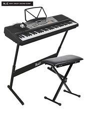 NJS 61 Key Full Size Electronic Keyboard, Sheet Music Stand, Headphones, Stool