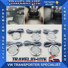 VW T4 T5 Interior Led Ceiling Spot Lights X6 Camper Van Boat 12v Slim Fit NEW