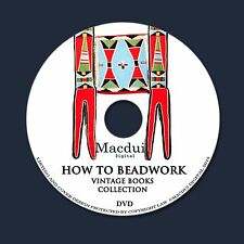 How to Beadwork – Vintage E-books 6 PDF on 1 DVD Bead Stringing Indian Bead Work