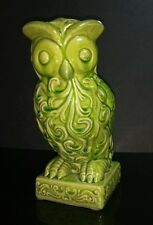 "Urban Trends Collection 10"" Green Ceramic Decorative Owl Figurine Statue #50812"