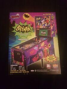 BATMAN 66 Premium Pinball ORIGINAL Promotional Advertising Flyer