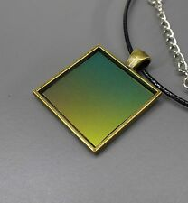 SteamTronix - Silicon Wafer Pendant (necklace,rainbow,prism,bronze,square