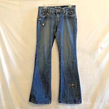 Petrol Jeans Amber SS Size 8 29W X 32L Bling Jewels on Hip and Hem Distressed