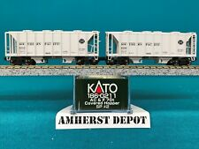 186-0211 Southern Pacific  Kato N Scale 70' Covered Hopper 2 Car Set #2  NIB