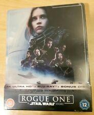 Rogue One A Star Wars Story Steelbook 4k + Blu-ray + Bonus Neuf