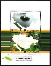SLOVENIA 2002 EUROPA: 3rd Central European Countries Presidents Meet. Map, MNH