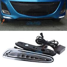 2Pcs Car LED daytime running lights for Mazda 3 2010-2013 fog lamp bumper DRL