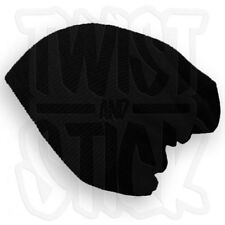 IROC - Black - Slouch Beanie - Baggy Fit Knitted Wooly Hat - UK SELLER