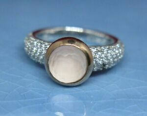 Beautiful Ti Sento Sterling Silver With Pink Sparkling Solitaire Ring - GGG-TLC