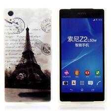 Sony Xperia Z2 Case Silikon Handy Schutz Hülle Etui Cover Motiv Eiffelturm SW