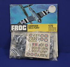 Vintage Frog F221F 1:72 OO Hawker Sea Fury Header Bag Kit Sealed England