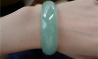 Green 100% Natural A JADE Jadeite Bead Beads Bangle Bracelet size 56mm-66mm
