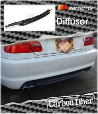 CARBON FIBER REAR DIFFUSER SINGLE 2 TIPS for BMW E46 3-SERIES M-TECH II BUMPER