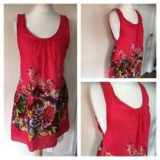 Joe Browns ~ Boho Multi Sleeveless Summer Shift Tunic Dress Size 12 E1
