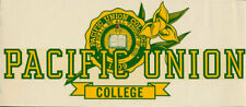 _ORIG_ Pacific Union College Pioneers Napa Valley CA vtg 1950s Decal Sticker