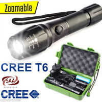20000 lm X800 USB LED Tactical Flashlight XM-L T6 Zoomable Torch Kit