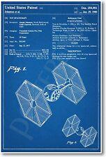 Star Wars Tie Fighter Patent - NEW Invention Patent Movie Art POSTER