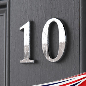Home Door Signs House Number ABS Self Adhesive Chrome Medium, Extra large UK