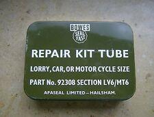 50/60er Bowes-REPAIR KIT Tube-car-Lorry-motor cycle-UK-rarrrrrrrrrrrrrrr