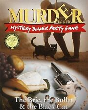THE BRIE THE BULLET AND THE BLACK CAT MURDER MYSTERY DINNER PARTY GAME - NEW