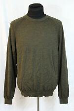 Men's Tiger Woods Collection Merino Wool Brown Sweater EUC Size Medium M