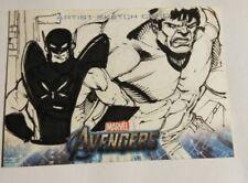 The Avengers 2012 Sketch Card Upper Deck HULK & ANTMAN