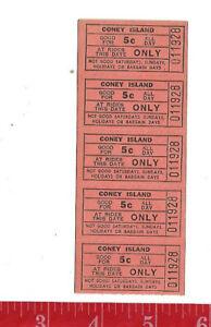 Vintage lot 5c ride tickets coney Island Park Cincinnati Ohio