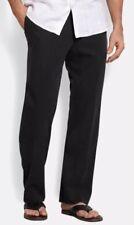 "NWT Tommy Bahama Big & Tall ""New St. Thomas"" Flat Front Black Pants Size 54 x 30"