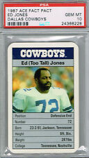 "ED ""TOO TALL"" JONES 1987 Ace Fact Pack Dallas Cowboys PSA 10 Pop GEM MINT Pop 1"