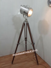 Collectible Nautical Spot Search Light Brown Stand Floor Lamp Home Decor