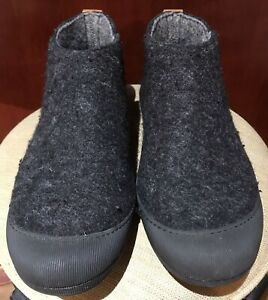 Felt Wool Shoes 13 Leather Trim Rubber Soles Glerups-style House Slippers Cap