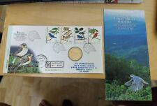 Malaysia 1997 Highland Birds Burung Tanah Tinggi Stamp + Nordic Gold Coin FDC #2