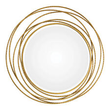 """Gold Swirl Rings Modern Wall Mirror 