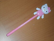 Sanrio Hello Kitty light pink diecut dancing moveable blue ink pen 8 inches long