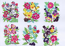 Chinese Paper Cuts Pair Birds Set 10 colorful small pieces Chen 2 Packets Lot