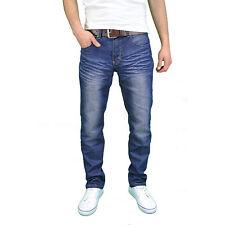 Crosshatch Mens Farrow Fashion Jeans Straight Fit Vintage Faded Blue Denim 34 In. 34l Mid Wash