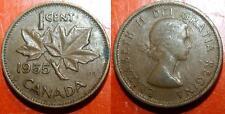 1 cent 1955 CANADA Elizabeth II