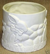 Ceramic Bisque Bunny Candle Ring or Planter Firebox 179 Ready To Paint