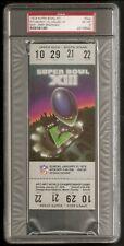 1979 Super Bowl XIII Terry Bradshaw Steelers Cowboys Full Unused Ticket PSA 6