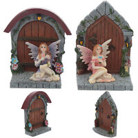 Magical Forest Fairies Enchanted Fairy Door Miniature Home Garden Ornament