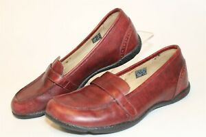 KEEN Womens Size 9 39.5 Leather Loafers Flat Slip On Comfort Shoes 5471-MBRN