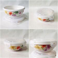 x 1 ea Ceramic Porcelain Airtight Sanitary Food Storage bowl PP lid Safe Korean
