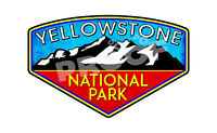 """Yellowstone National Park Wyoming Sticker Decal 4"""" x 2.6"""" Nature Hiking Outdoors"""