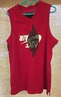 Nike Air Jordan Jumpman Classic Wings Tank top Men's Size L Jersey Red Nike BRED