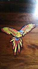 XL-Patch Ara Papagei Vogel Fliegend mit Pailletten Aufnäher Applikation