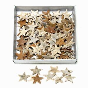 150 Pieces Birken-Sterne Natural 2,5cm, Scatter Stars, Birch Tree /Top Price