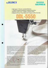 Juki DDL-5550 Industrial Sewing Machine Rare Original Factory Dealer Brochure