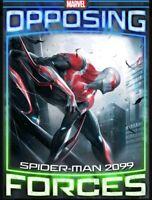 Rare Tilt Opposing Forces Week 4 Spidey 2099 vs Maestro Topps Marvel Collect