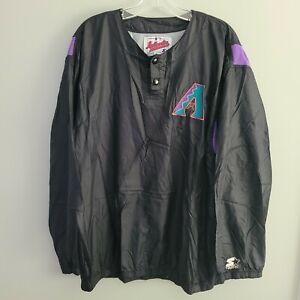 Rare VTG 90s Starter Arizona Diamondbacks Pre game BP Pullover Jacket Mens L